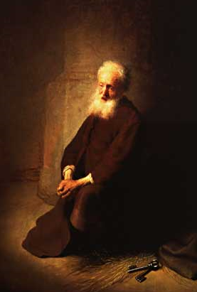 Painting: St. Peter in Prison, by Rembrandt